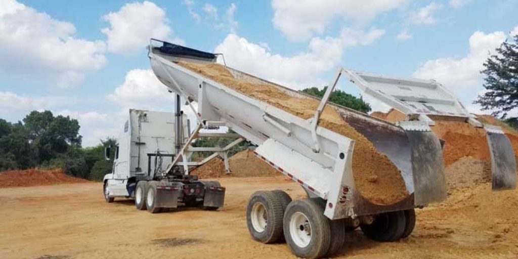 Semi Dump Truck Trailer Cusion Sand Deliver Dallas Fort Worth 800x435 (1)